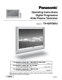 Manuale d'uso Panasonic TH-42PD50U