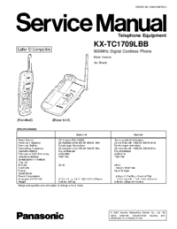 Service Manual Panasonic KX-TC1709LBB