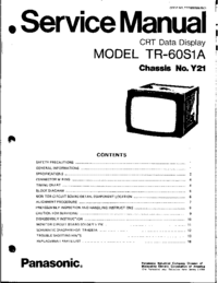 Service Manual Panasonic TR-60S1A