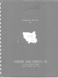 Service and User Manual Panorami IP-259/U