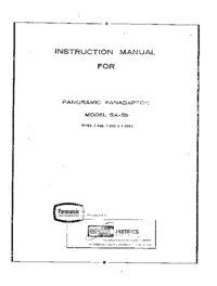 User Manual Panorami SA-8b T-100