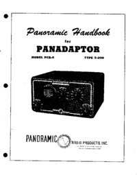 Serviço e Manual do Usuário Panorami PANADAPTOR MODEL PCA-2 TYPE T-200