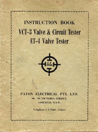 User Manual Paton VCT-3