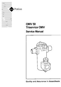 Manual de serviço Penlon OMV 50