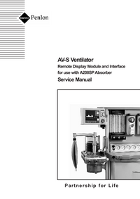 Manual de serviço Penlon AV-S