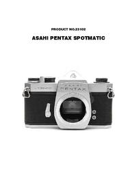 Manual de serviço Pentax Spotmatic 23102