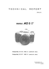 Руководство по техническому обслуживанию Pentax MZ-3 Quartz Date 27371
