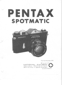 Manual de servicio Pentax Spotmatic