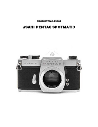 Manual de servicio Pentax Spotmatic 23102