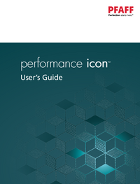 Manual del usuario Pfaff performance icon