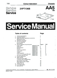Service Manual Philips 21PT136B