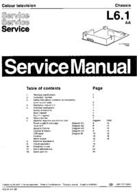 Manual de servicio Philips L6.1 AA