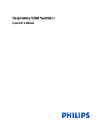 Manual del usuario Philips Respironics V200