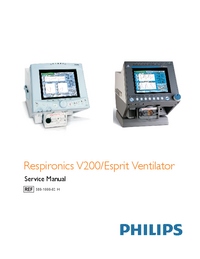 Manual de servicio Philips Respironics Esprit