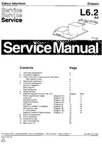 Instrukcja serwisowa Philips L6.2 AA