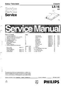Manual de servicio Philips L9.1E AA