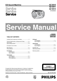 Manual de servicio Philips AZ 3012
