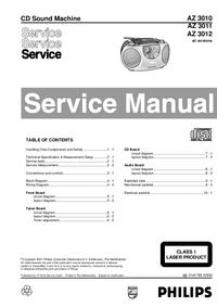 manuel de réparation Philips AZ 3012