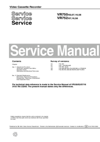 Manual de servicio Philips VR752 07