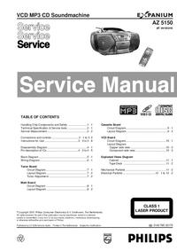 Manuale di servizio Philips AZ 5150