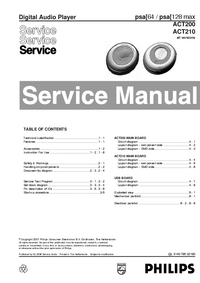 Service Manual Philips ACT210