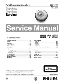Manual de servicio Philips ACT400