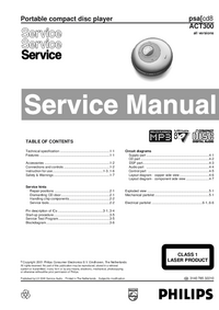 Service Manual Philips psa cd8
