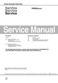 Manual de servicio Philips VR550 58