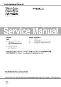 Руководство по техническому обслуживанию Philips VR550 58