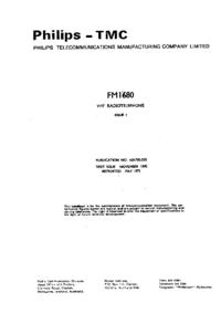 Instrukcja serwisowa Philips FM 1680