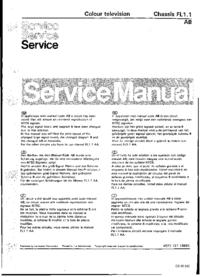 Manual de servicio Philips FL1.1 AB