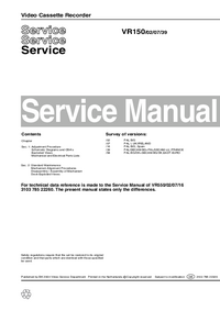 Service Manual Philips VR150 02