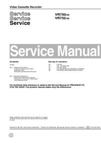 Service Manual Philips VR752 39