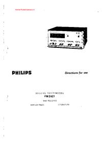 Bedienungsanleitung Philips PM 2421