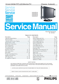 Manual de servicio Philips Hudson6