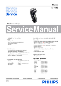 Service Manual Philips 7310XL
