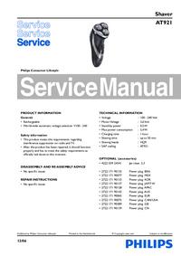 Service Manual Philips AT921