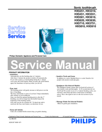 Manual de servicio Philips HX5910