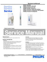 Service Manual Philips HX6972 FlexCare+ Retail with Sanitizer