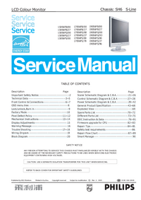 Manual de servicio Philips 170S6FS/78