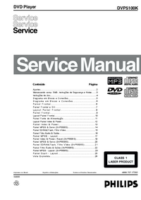 Manual de servicio Philips DVP5100K
