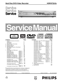Service Manual Philips HDRW720