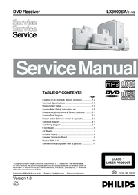 Service Manual Philips LX3900SA 01
