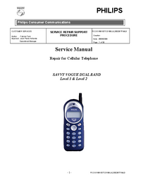 Service Manual Philips SAVVY VOGUE