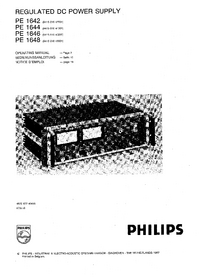 Service and User Manual Philips PE 1642