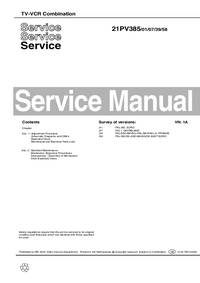 Service Manual Philips 21PV385 07