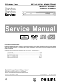 Manual de servicio Philips PDV442 051