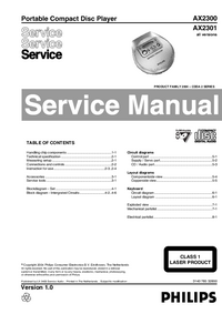 Manual de servicio Philips AX2301