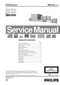 Servicehandboek Philips MRD120 17
