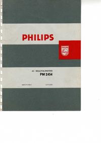 Обслуживание и Руководство пользователя Philips PM 2454